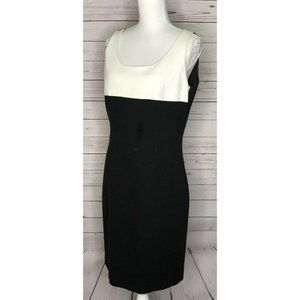 Tahari Arthur S Levine Color Block Shift Dress 8